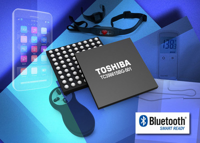 The new Toshiba TC35661SBG-501 includes the Serial Port Profile (SPP) and Generic Attribute Profile (GATT) to support the Bluetooth v4.0 communications standard. The new device makes it easy to add new capabilities in Bluetooth communications without any product redesign. (PRNewsFoto/Toshiba America Electronic Components, Inc.)