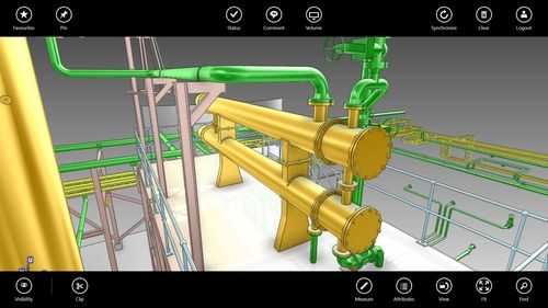 AVEVA E3D Insight allows you to visualise the live 3D design model on your mobile tablet (PRNewsFoto/AVEVA Solutions Ltd)