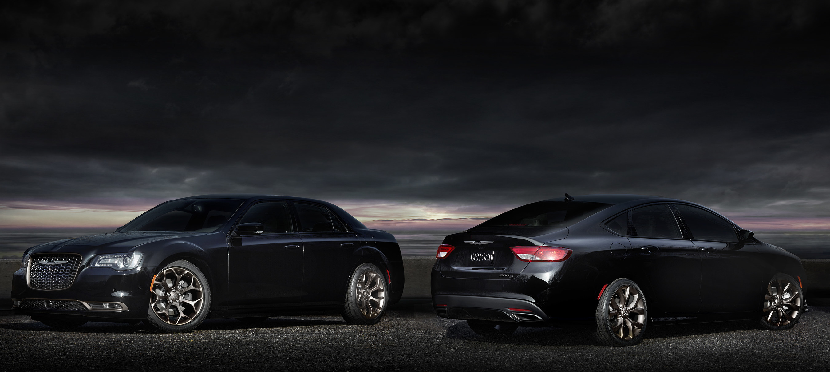 2016 Chrysler 300S and 200S Alloy Editions (left to right)
