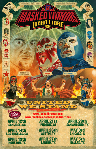 Lucha Libre USA: Masked Warriors United We Stand Tour http://luchalibreusa.com.  (PRNewsFoto/Lucha Libre USA)