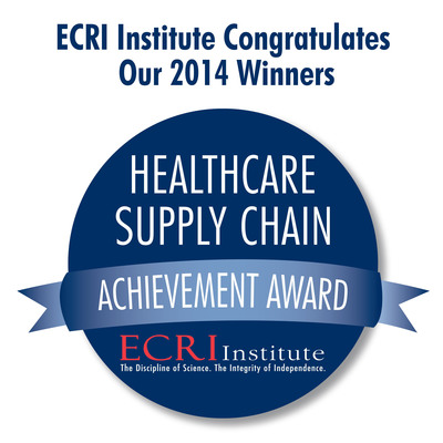 The 12 winners of ECRI Institute's 2014 Healthcare Supply Chain Achievement Award are Asante, Banner Health, Baylor Scott & White, Broward Health, HealthPartners, Medical University of South Carolina, New York City Health and Hospitals Corporation, Parkland Health & Hospital System, SCM Alliance, UCSF Medical Center, University of Miami Health System, and UR Medicine. The prestigious award honors healthcare organizations that demonstrate excellence in overall spend management and in adopting best practice solutions in their supply chain. Learn more at www.ecri.org/2014SCAA. (PRNewsFoto/ECRI Institute) (PRNewsFoto/ECRI INSTITUTE)