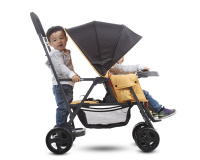 The Caboose Graphite allows an older child the choice to sit, stand, or walk.