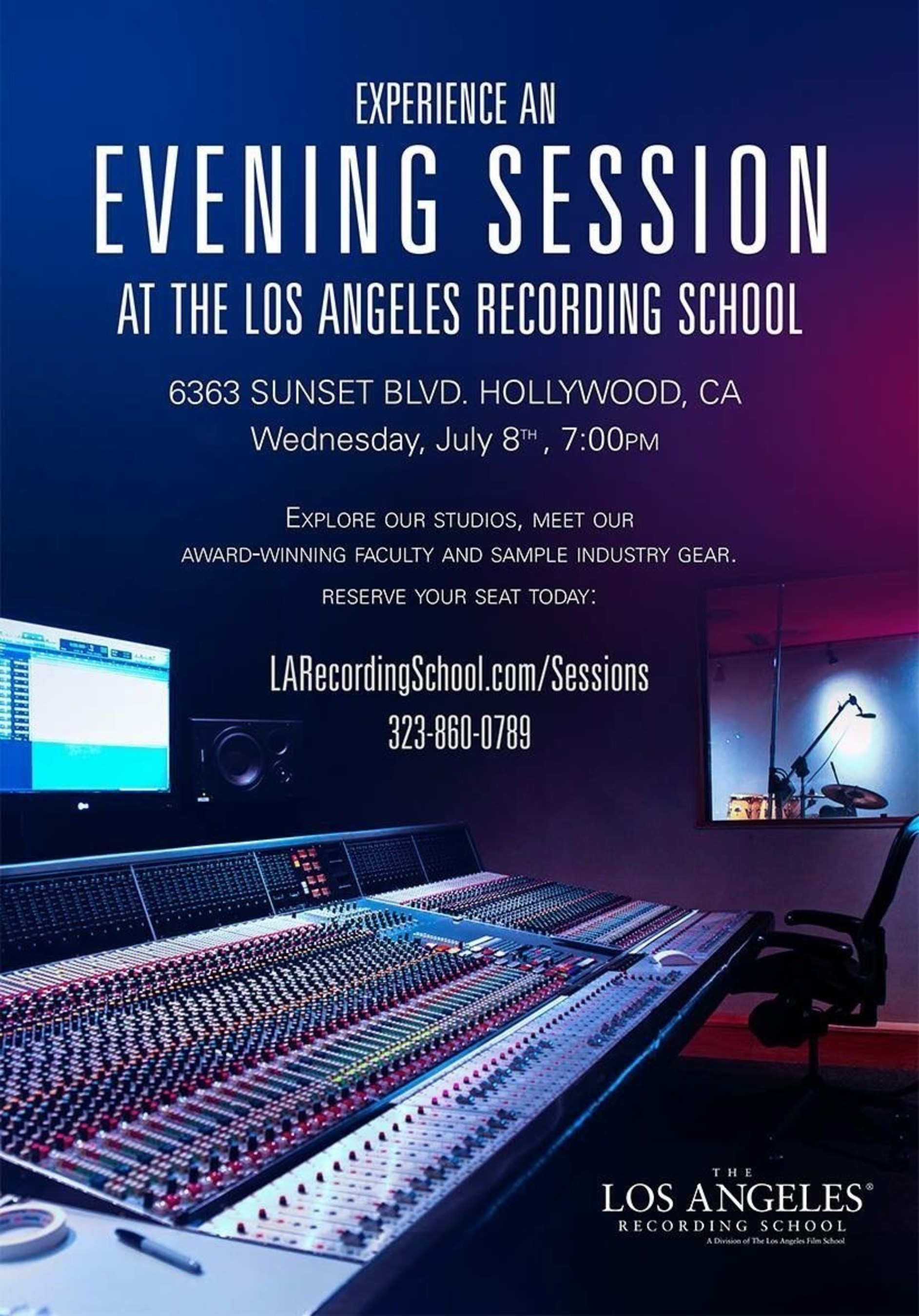 The Los Angeles Recording School Celebrates 30th Anniversary Launches 'An Evening Session'