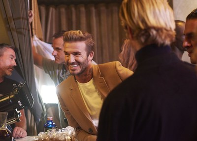 Brand partner David Beckham on set of the first Haig Club Clubman advert - a new Single Grain Scotch Whisky brand variant