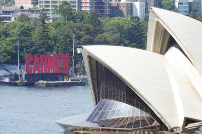 Finishing touches are unveiled today, on the magnificent set of Opera on Sydney Harbour: Carmen, which opens on Fri 22 March. More info at www.operaonsydneyharbour.com.au.  (PRNewsFoto/Opera Australia)