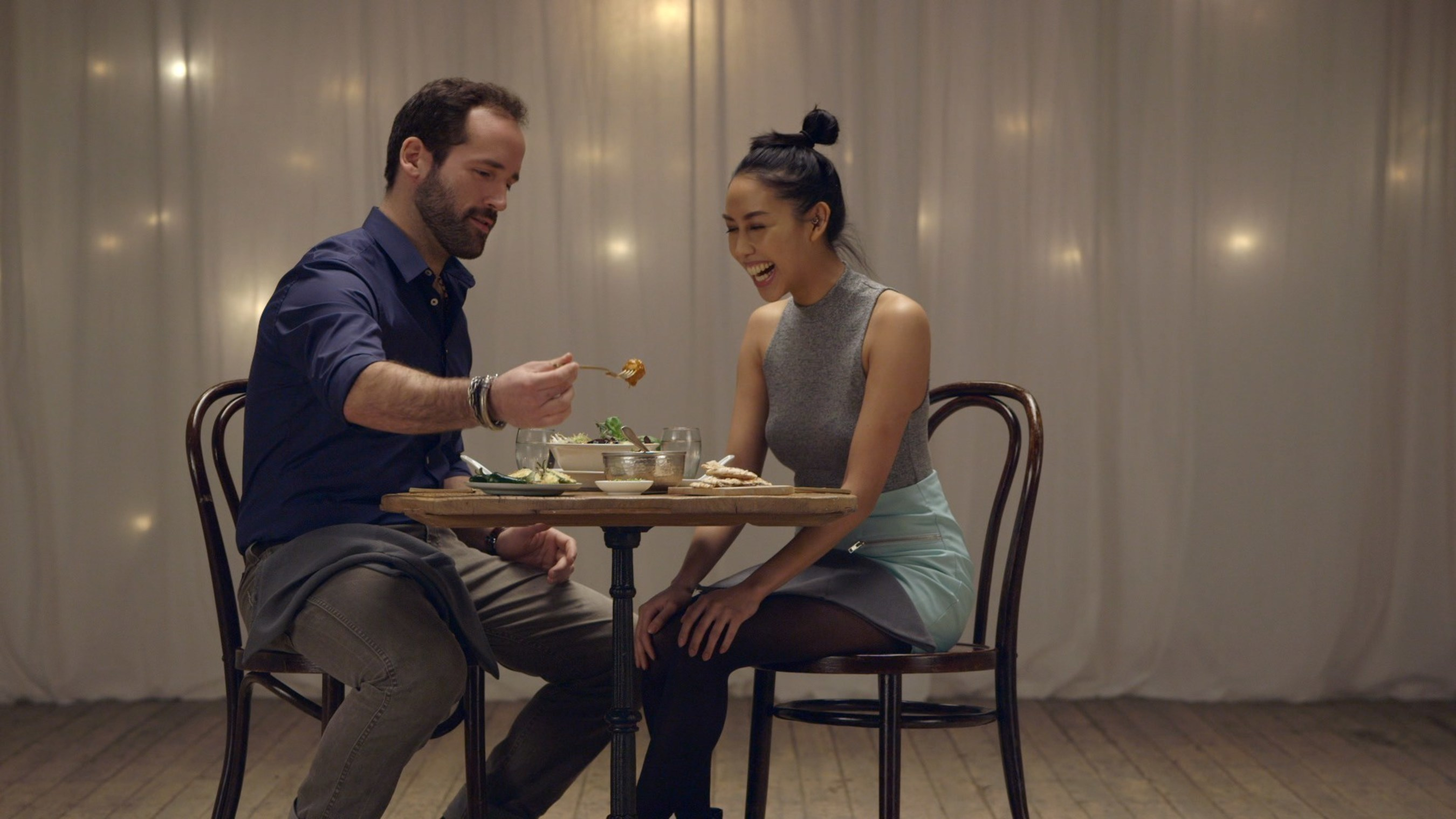 Couples were matched by flavor profiles and asked to feed each other.