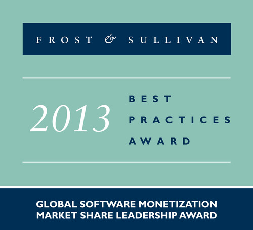 Frost & Sullivan has presented SafeNet with the prestigious Market Share Leadership Award for its leadership in the global software monetization market. (PRNewsFoto/SAFENET)