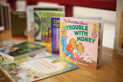 Ally donated 50 books to the Thomasboro Academy in Charlotte, N.C. library focused on financial education and money skills