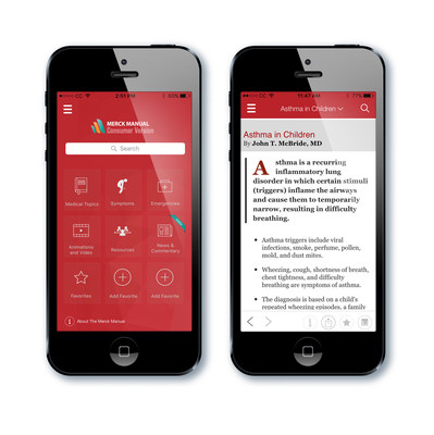 The Merck Manuals Consumer App provides free, offline access to thousands of medical resources