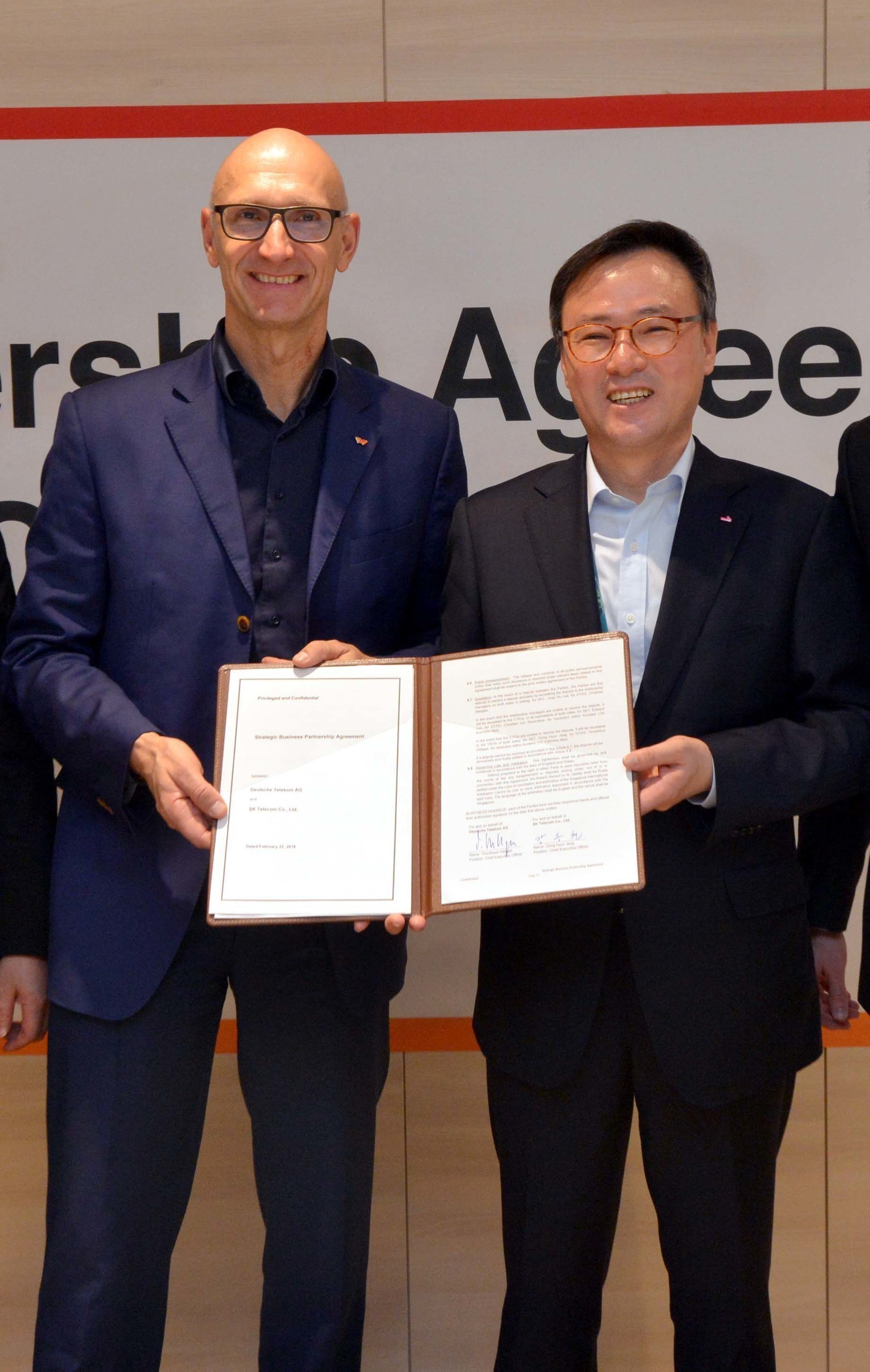 SK Telecom and Deutsche Telekom Establish Strategic Technology and Business Partnership
