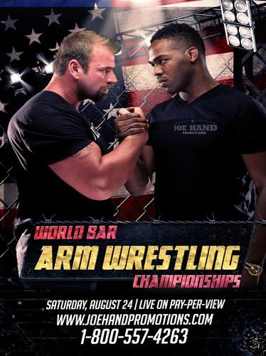 World Bar Arm Wrestling Championship set for August 24 in Las Vegas