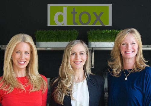 Dtox Juice Partners (l-r) Karen Spencer Welanetz, Shannon Sliger, and Jenny Forst (PRNewsFoto/Dtox Juice)