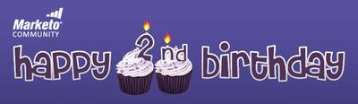 Marketo's Community of Empowered Marketing Professionals Celebrates Its Second Birthday.  (PRNewsFoto/Marketo)