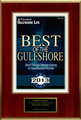 "Dolphin Cleaners Selected For ""Best Of The Gulfshore.""  (PRNewsFoto/Dolphin Cleaners)"