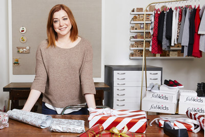 Alyson Hannigan and family graciously turned their home into Santa's workshop to package FabKids shirts, pants, dresses, hats, and accessories to donate to children through Corazon de Vida.