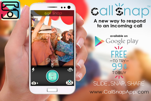 "CallSnap is a downloadable app that provides call recipients the chance to prove that ""a picture's worth a thousand words"" by responding instantly to an incoming call with a photo. Officially launching at CTIA 2013, the new Android app is available for download in the Google Play store. CallSnap has blended voice technology with a photo to make consumers' communication more informational and alive for nearly every situation and provides mobile call recipients a fun, new, and innovative way to communicate by sharing an instant ..."