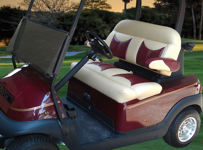 Ultimate Golf Seating's Elite Bench Model.