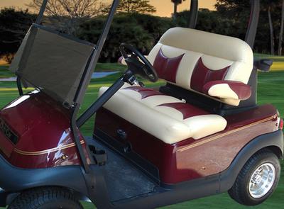 Ultimate Golf Seating's Elite Bench Model.