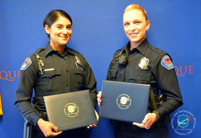 National Law Enforcement Officers Memorial Fund has selected Officers Candace Bisagna (right) and Brandi Madrid, of the Albuquerque (NM) Police Department, as the recipients of its Officer of the Month Award for October 2016.