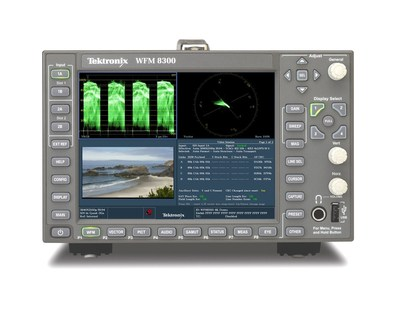 The WFM8200 and WFM8300 waveform monitors and WVR8200 and WVR8300 rasterizers can perform a broad range of 4K measurements including four tile displays of waveform, picture, vector, gamut and eye diagram for YPbPr formats.  These comprehensive measurement capabilities enable users to reduce the time to isolate, diagnose and remedy system issues and design faults. (PRNewsFoto/Tektronix)