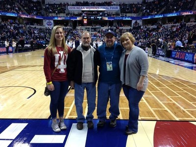 Wounded veterans honored during 2016 Women's Final Four tournament.