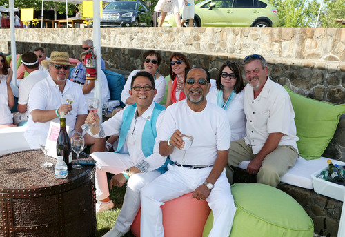 Attendees enjoyed tastings and croquet during the May 17 Wishes in Wine Country event at the Sonoma-Cutrer ...