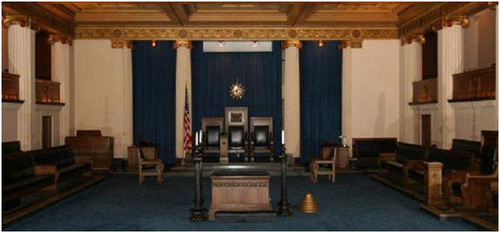 Since 1922, the meeting room of Zion's Freemason located in the Detroit Masonic Temple.  (PRNewsFoto/Wesley Berry)