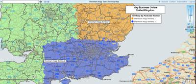 UK MapBusinessOnline.com.  (PRNewsFoto/SpatialTEQ)