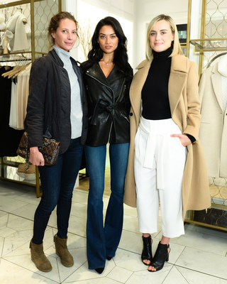 Christy Turlington Burns, Shanina Shaik and Taylor Schilling at the Club Monaco 5th Avenue Anniversary Event