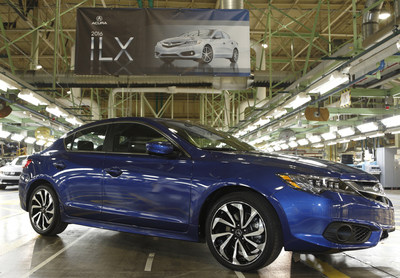 The 2016 Acura ILX begins production in Ohio.