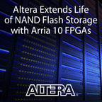 Altera FPGAs with embedded CPU architecture offer an innovative way to deploy storage in the cloud and high-performance computing systems.