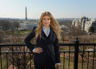 Avon Foundation Global Ambassador Fergie in Washington, D.C. where she announced the new Justice Institute on Gender-Based Violence with the Avon Foundation, Vital Voices, and the U.S. State Department on March 20, 2014.  (PRNewsFoto/Avon Foundation for Women)