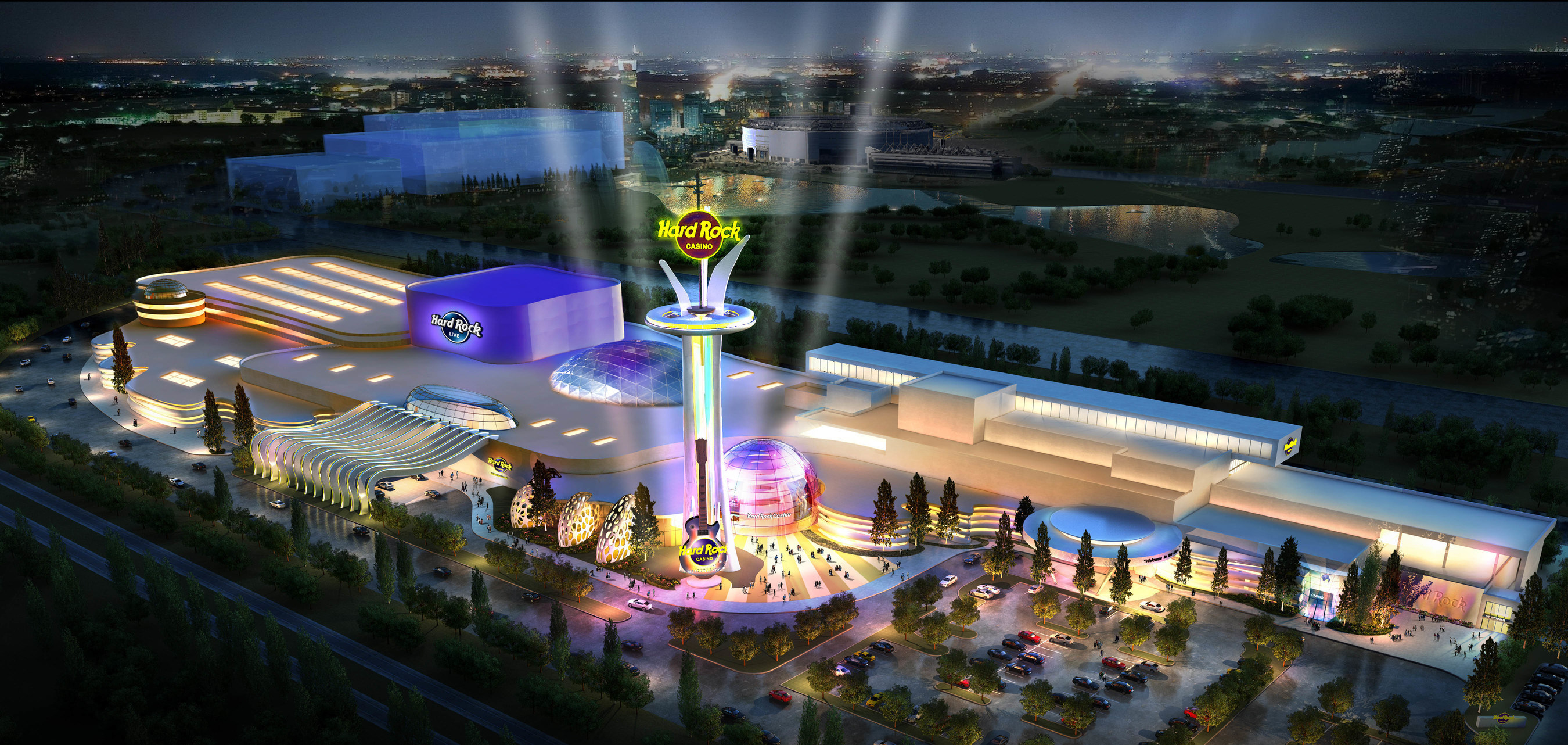 First visual of the proposed Hard Rock Casino at the Meadowlands in northern New Jersey.