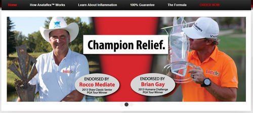 Rocco Mediate and Brian Gay Endorse Anataflex. (PRNewsFoto/Premium Nutraceuticals) (PRNewsFoto/PREMIUM NUTRACEUTICALS)
