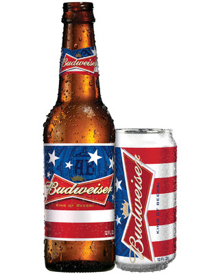 Starting May 5, every Budweiser sold through July 4 will benefit military families via a donation of up to $1.5 million to the Folds of Honor Foundation.  (PRNewsFoto/Anheuser-Busch)