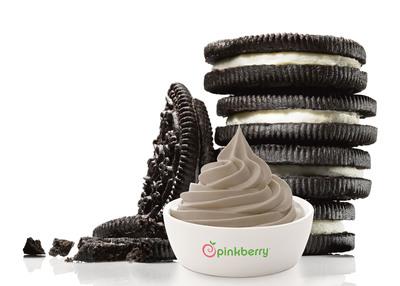 Pinkberry Introduces New Cookies & Cream Frozen Yogurt.  (PRNewsFoto/Pinkberry)