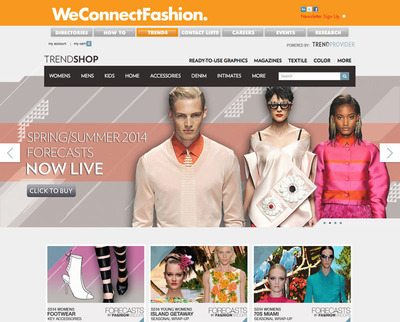 The WeConnectFashion Trend Shop offers hundreds of digital trend reports and eMagazines for every key area of style - from apparel and accessories to textiles, to home decor, to beauty and lifestyle. Searchable, affordable, individually-priced trend insight to help style businesses succeed. www.WeConnectFashion.com/trendshop.  (PRNewsFoto/WeConnectFashion)