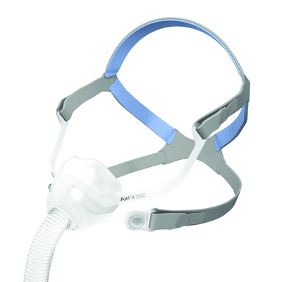 The lightweight AirFit N10 is a compact nasal mask that offers patients a clear line of sight.   (PRNewsFoto/ResMed Inc.)