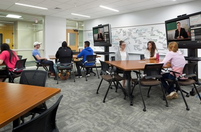 Flexible furniture layouts and movable technology make classrooms adaptable to varied teaching styles and curricula. (Photo Credit: Ed Wonsek)