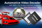 Highly integrated TW9992 takes both single-ended and differential CVBS inputs from vehicle's backup camera.