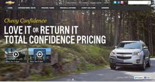 Bill Jacobs Chevrolet is offering Chevy's new Confidence program where you can return a new 2012 or 2013 ...