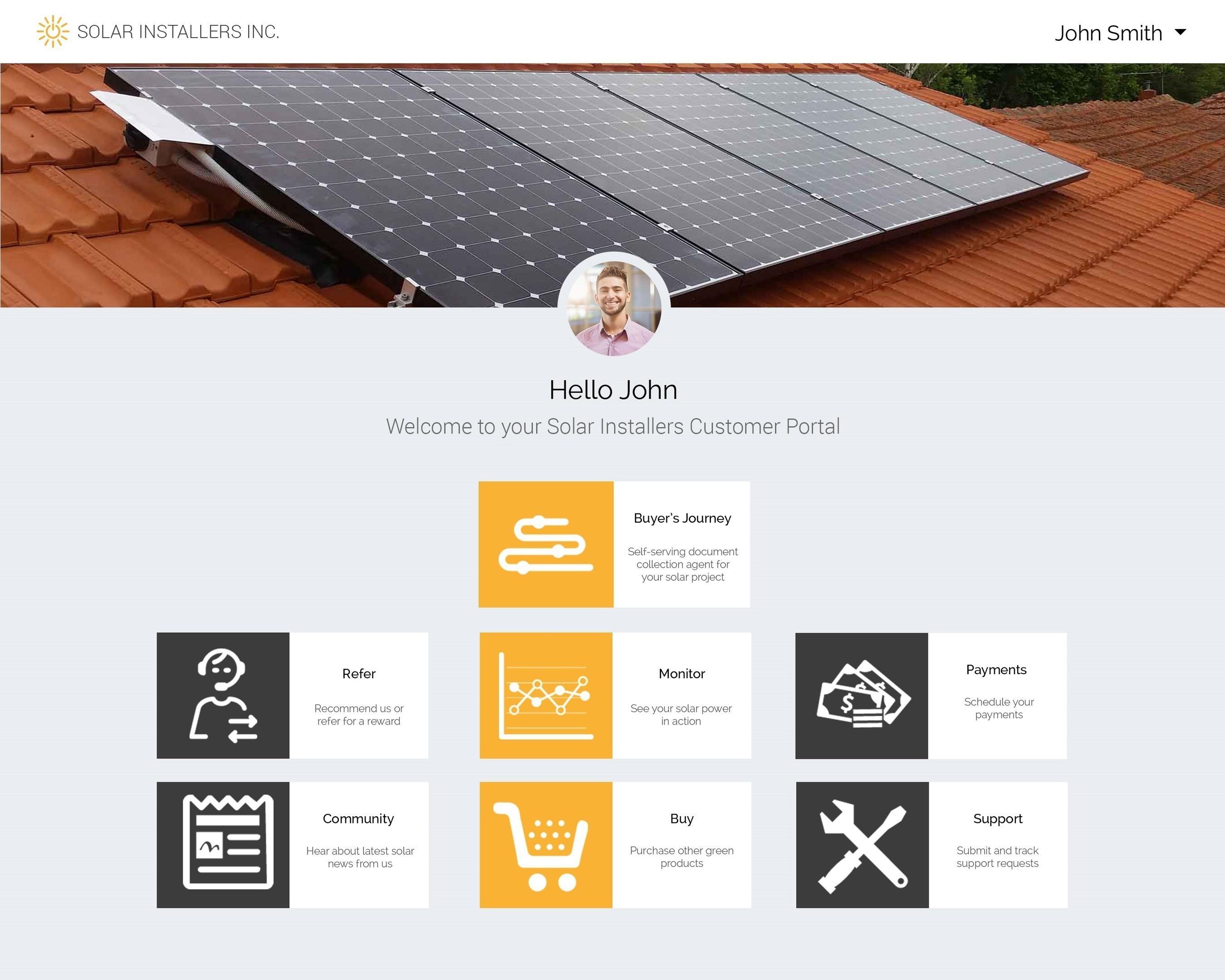 Solar industry's first Customer Portal to simplify solar buying