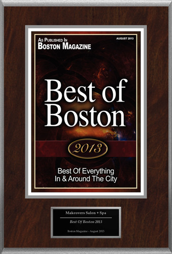 """Makeovers Salon + Spa Selected For """"Best Of Boston 2013"""".  (PRNewsFoto/Makeovers Salon + Spa)"""