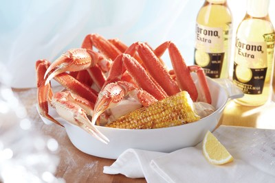 Red Lobster's NEW! Alaska Bairdi Crab Legs Dinner features a generous portion of wild-caught Alaska Bairdi crab legs served with Chesapeake-grilled corn on the cob.
