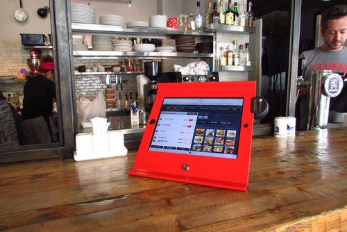 Maclocks Slide Basic iPad POS enclosure for retailers, restaurants and small businesses