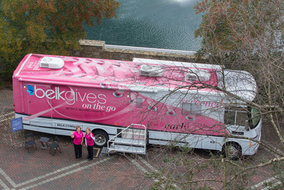 The BelkGives on the Go Mobile Mammography Center will visit more than 100 cities in North Carolina, South Carolina and Tennessee in 2013.