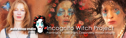 Incognito Witch Project: Paintings and Video Shorts.  (PRNewsFoto/Mollie Kellogg Creative)