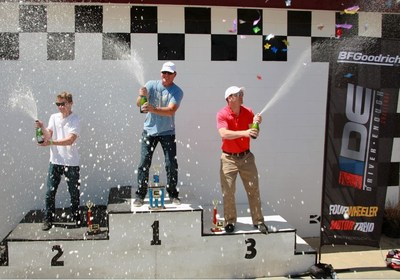 Mike Iler (Redlands, Calif.) stood atop the podium after the two-day Driver Enough Challenge. Gardner Nichols (Boulder, Colo.) too second and Wade Koehl (Cypress, Texas) took third place.