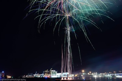 MSC Cruises celebrated Veterans Day and the return of MSC Divina back to Miami in style with a spectacular fireworks show. Photo credit: Gio Medina