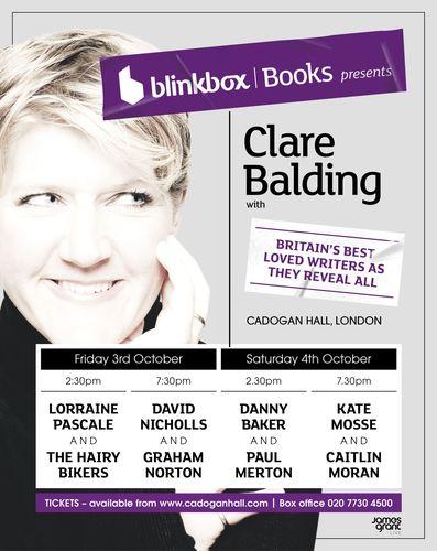 blinkbox Books presents Clare Balding (PRNewsFoto/Blinkbox)